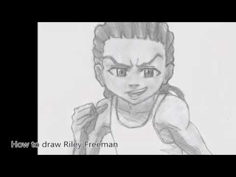 how to draw riley freeman the boondocks comment dessiner riley freeman youtube