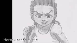 How to draw Riley Freeman- The Boondocks- Comment dessiner Riley Freeman