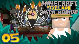 OUR FIRST GYM!! Minecraft PIXELMON LIVE with aDrive! Ep05- PocketPixels Red Let's Play!