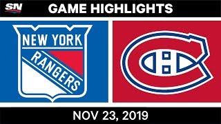NHL Highlights   Rangers vs. Canadiens – Nov. 23, 2019
