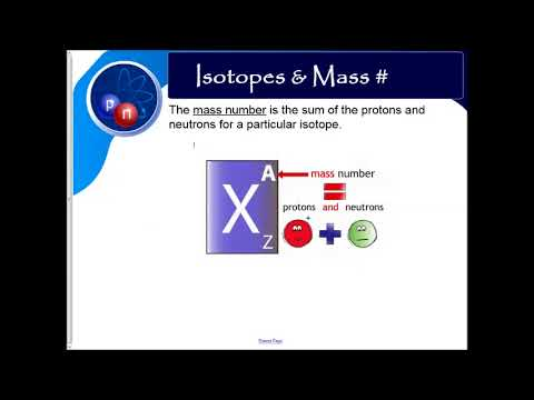 Atomic Structure #2- Subatomic Particles, Isotopes, PEN calcs