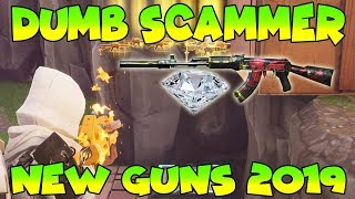 Dumb Scammer Has *NEW* 2019 GUNS!! (Scammer Gets Scammed) Fortnite Save The World