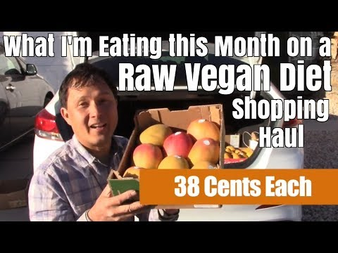 What I'm Eating this Month on a Raw Vegan Diet Shopping Haul
