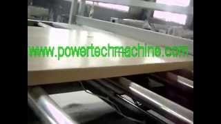 The Video Of Pvc Wpc Flooring Production Line