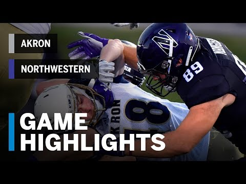 Highlights: Akron vs. Northwestern | Big Ten Football