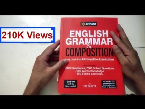 English Grammar book review of arihant publication writer sc gupta