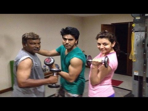 Ram charan,kajal and Krishna Vamsi Workout  in Jim : TV5 News