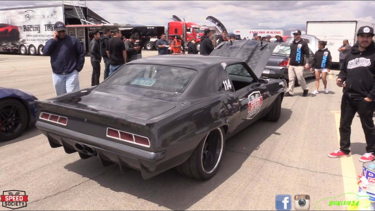 43d964d352c 1200hp Twin Turbo Speed Society Camaro Jams Out in Half Mile! - YouTube