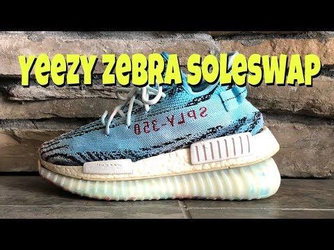 Adidas Yeezy Zebra NMD Boost Hybrid (soleswap)