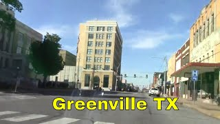 Greenville TX Downtown Courthouse Lee St Texan Theater Carnegie Library Small Town Texas Street USA