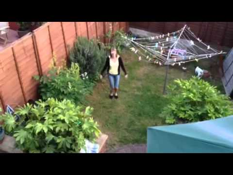Missile explosion blows up dancing woman in her back garden