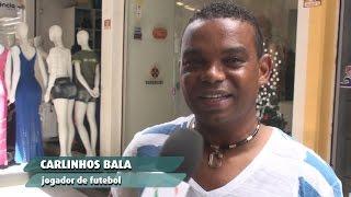 Jogador Carlinhos Bala no Moda Center Santa Cruz