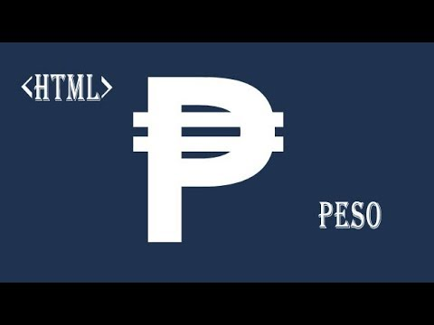 HTML Peso Symbol Currency