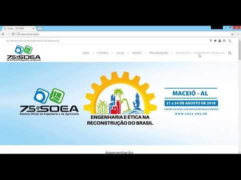 Como se inscrever para a SOEA 2018 - Tutorial - Crea-AL