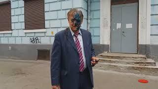 В Киеве патриоты облили нечистотами главу антиукраинской организации