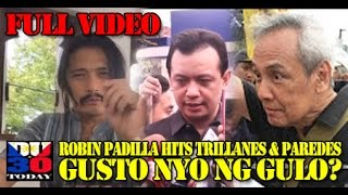 ROBIN HITS TRILLANES AND PAREDES ON THEIR UNACCEPTABLE BEHAVIOR
