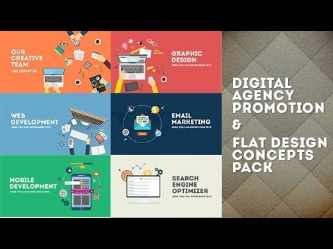 Digital Agency Promotion - Flat Design Concepts | After Effects template