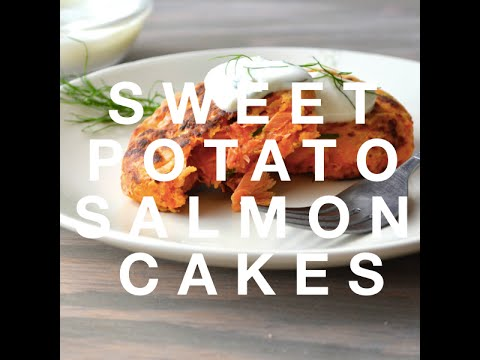 SWEET POTATO SALMON CAKES » Delicious + Healthy