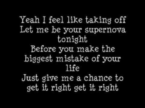 Mr Hudson Ft Kanye West - Supernova (Lyrics) !!!ON SCREEN!!!.