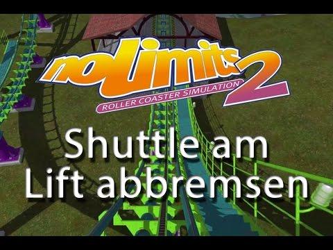 10. Shuttle am Lift abbremsen und hinunterlassen