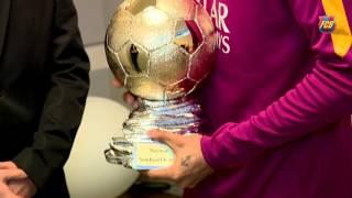 (0.01 MB) Neymar receives Samba D'Or 2015 Award Mp3