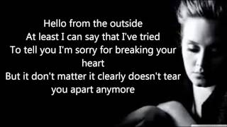 Video Adele - Hello (Official Lyrics Video) HD download MP3, 3GP, MP4, WEBM, AVI, FLV November 2017