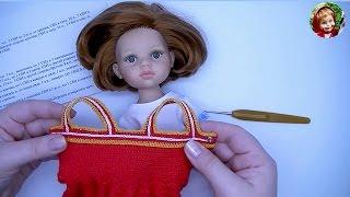 Одежда для кукол крючком: вяжем лиф сарафана на бретелях + розыгрыш призов :)