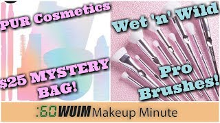 PUR Cosmetics $100 in Products for $25! Wet 'n' Wild PRO BRUSHES! OMG! | Makeup Minute