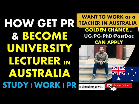 How To BECOME UNIVERSITY LECTURER/PROFESSOR IN AUSTRALIA || Want To Work As A Teacher ?