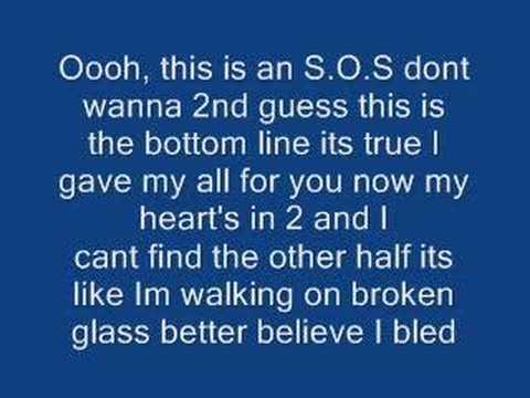 S.O.S by Jonas Brothers with lyrics on screen