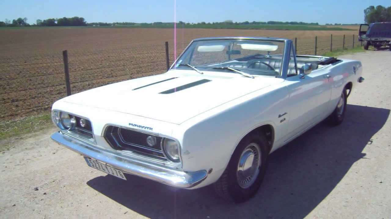 plymouth barracuda convertible a vendre garage bessard youtube. Black Bedroom Furniture Sets. Home Design Ideas