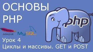 Основы PHP - урок 4. Циклы и массивы. GET и POST.