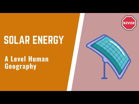 As Human Geography - Solar Energy