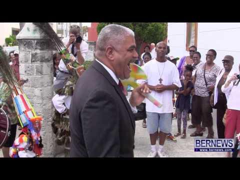 Premier Dances With Gombeys At Mandela Celebrations, July 18 2013