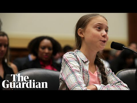 'Listen to the science' Thunberg tells Congress