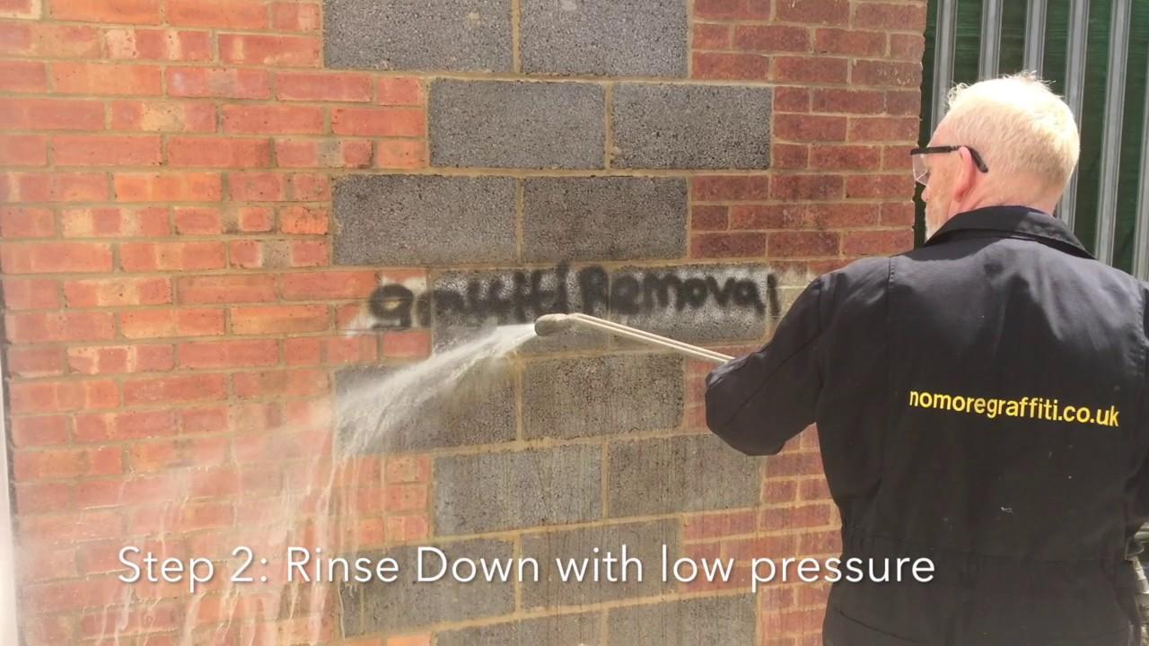 How to Remove Graffiti from a brick wall   Graffiti Removal LTD