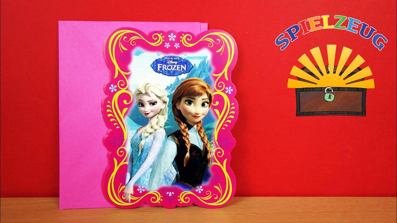 Disneys Frozen   Einladungen Mit Umschlägen Elsa Anna Eiskönigin Kinder  Geburtstag Auspacken