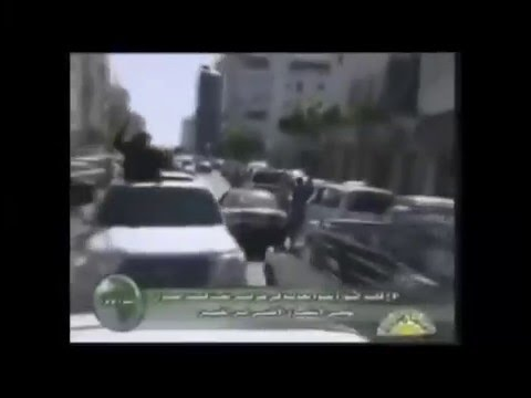 Qaddafi greets his people for the last time