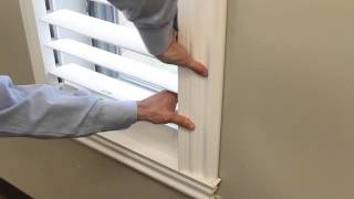"Diy Plantation Shutters. See How ""snapview Shutters"" Diy Self-installation Is A ""snap""!"