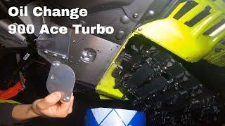How To Do A Oil Change On A 2020 900 Ace Turbo Ski-Doo Snowmobile XPS Oil Change Kit
