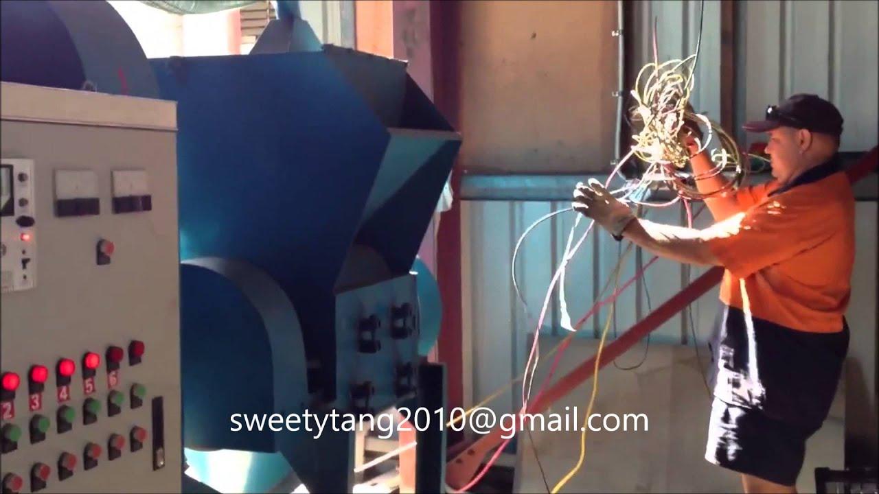 Scrap Copper Wire Cable Granulator waste copper wire recycling ...
