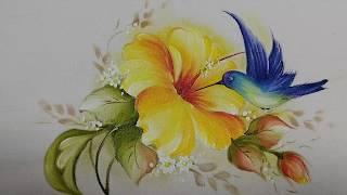 Aprenda Pintar Beija-Flor e Hibisco – VÍDEO COMPLETO
