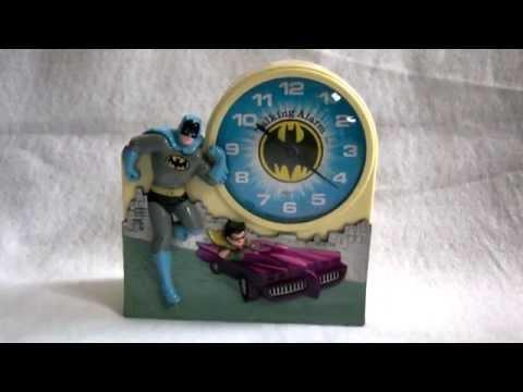 Vintage Batman and Robin 1974 TALKING Alarm Clock