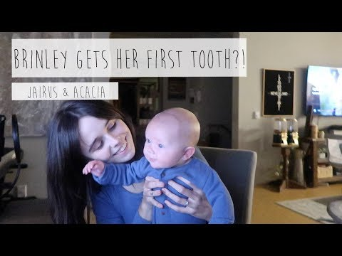 BRINLEY GETS HER FIRST TOOTH?! | ACACIA & JAIRUS