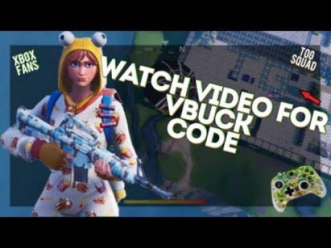 FREE FORTNITE VBUCKS XBOX CODE INSIDE WATCH VIDEO FOR CODE ...