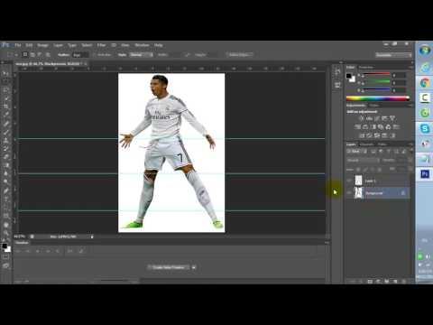 """Cách kéo dài chân trong """"Adobe Photoshop CS6"""""""