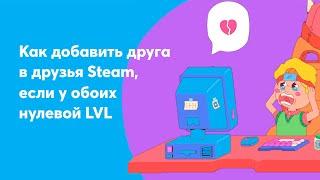 Как добавить в steam друга с нулевым уровнем [бесплатно]