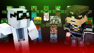 ZOMBIE OUTBREAK!   Minecraft Roleplay [The Mo Zombies Mod]