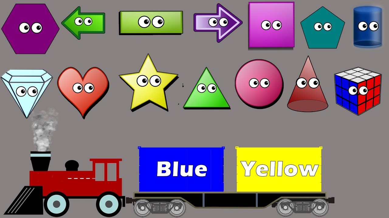 Shapes & Colors Sorting Song For Kids