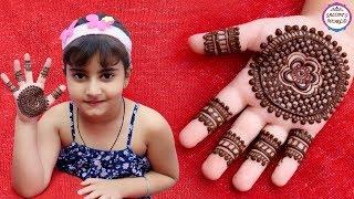 Mehndi Designs For Kids Hand   Mehndi For Beginners   Gol Tikki by Jyoti Sachdeva